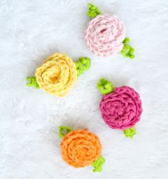 Little Crochet Deco Roses.  Flower
