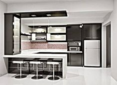 These modern kitchen suggestions are equivalent components peaceful and also elegant. Find the very best concepts for your modern design kitchen that suits your taste. Kitchen Room Design, Best Kitchen Designs, Modern Kitchen Design, Kitchen Layout, Home Decor Kitchen, Interior Design Kitchen, Modern Design, Modern Interior, Set Design