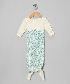 114fe29c8a3 Electrik Kidz Cream Mermaid Organic Gown - Infant