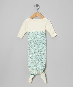 Take a look at this Cream Mermaid Organic Gown - Infant by Electrik Kidz on #zulily today!