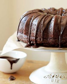 Chocolate Sour Cream Bundt Cake...sounds very simple to prepare and looks delicious!