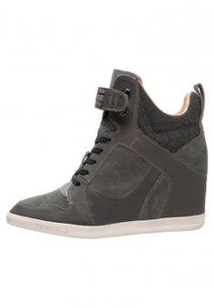 G-Star - YARD WEDGE BELLE GILTEDGE LTHR - Sneakers hoog - dark grey