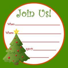 free invitations templates free   free christmas invitation, Party invitations