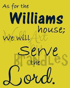 We will serve the Lord Art - Christian Art - Scripture Art