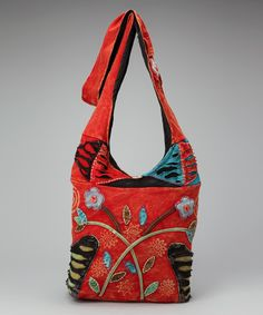 Take a look at this Red & Black Crossbody Bag by Rising International on #zulily today!