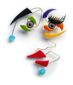 I love thisp olymer and wire face from Serbia's Milena Babic and Miloš Samardžic (Tramps and Glam)Polymer faces it