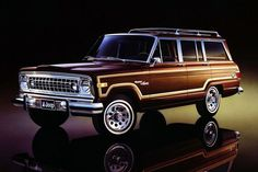 So many childhood memories and road trips!  Grand wagoneer!  Id love one now as a weekend warrior.
