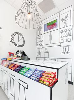 Retail Counter Decor Inspiration! Draw on your display for a little something different. #Retail #Decor