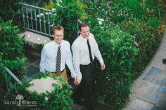 Backyard wedding in Lincoln, California - grooms entering reception - Sarah Maren Photographers