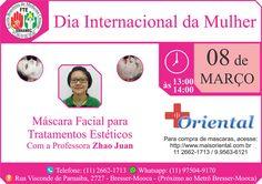 Em comemoração ao Dia Internacional da Mulher, dia 08 de março (Quarta-feira 52c0a97206