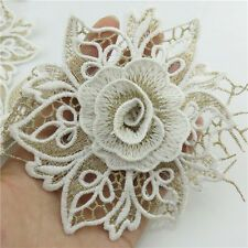 Embroidery Fabric White Lace Flower Trims Bridal Applique Crafts in Crafts, Sewing, Embellishments & Wonderful crocheted leaf tutorial - Diy pattern, knit - 2014 need some crochet tutorial style inspo? these should do the trick by Lucasy Form Crochet, Crochet Flower Patterns, Flower Applique, Crochet Motif, Crochet Designs, Crochet Flowers, Crochet Lace, Crochet Stitches, Crochet Pillow