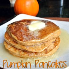 Gluten-Free Pumpkin Pancakes: I use Pam's GLuten free pancake mix. add the eggs, oil, pumpkin puree and spices, and use buttermilk instead of water. Gf Recipes, Pumpkin Recipes, Fall Recipes, Cooking Recipes, Chicken Recipes, Gluten Free Recipes For Breakfast, Gluten Free Cooking, Free Breakfast, Breakfast Healthy