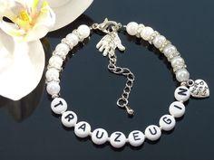 Armbänder - Trauzeugin Braut Armband Hochzeit Geschenk - ein Designerstück von bluemli82 bei DaWanda