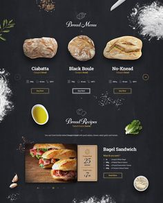 Giorgio's Bakery website design by Miro Koljanin Food Web Design, Menu Design, Ux Design, Graphic Design, Brochure Design Inspiration, Website Design Inspiration, Logo Inspiration, Site Portfolio, Bakery Website