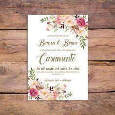Convite Casamento Digital - Marsala TV1