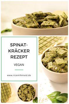 Easypeasy Rezept für vegane Spinat-Kräcker. Du brauchst nicht mehr als 6…