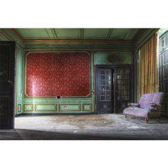 Alu Art | Lacour | Woonkamer rode wand/bl deur