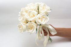 Bridesmaid bouquet bridesmaids flowers paper by FlowerDecoration, $25.00    CREPE PAPER!!