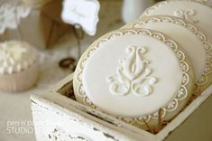 Vintage-french inspired decorated cookies!