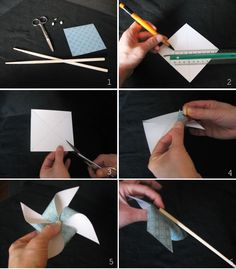 Paper pinwheels - molinillos de papel