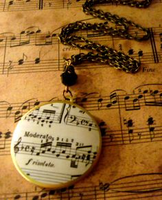 sheet music locket