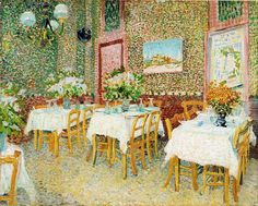 "dappledwithshadow: ""Interior of a Restaurant, Vincent van Gogh, 1887. """