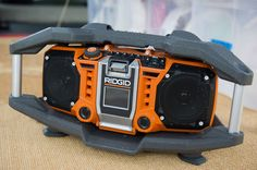 The Rigid Jobsite Radio is perfect for any event because it's all-weather, so dad can boogie rain or shine!