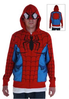 Spider-Man Costumes - Adult & Kids Spider-Man Suits for Halloween Spiderman Hoodie, Spiderman Costume, Cartoon T Shirts, Movie T Shirts, Adult Costumes, Halloween Costumes, Comic Clothes, Hoodies, Sweatshirts