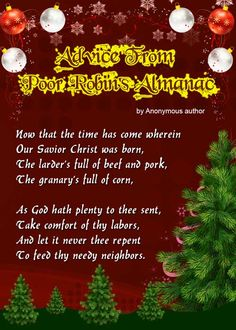 sent, Take comfort of thy labors, And let it never thee repent To feed thy needy neighbors. Christmas poems for children to recite Merry Christmas Poems, Christmas Verses, Christmas Is Coming, Christmas Humor, All Things Christmas, Kids Christmas, Christmas Crafts, Christmas Program, Kids Poems