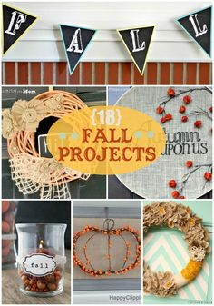 18 Fall Projects - The best fall projects from table runners to wreaths!! { lilluna.com }