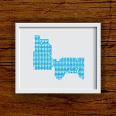 Twin Cities Art Print - 8x10 City Art Heart Map - Minneapolis/St. Paul Art Print