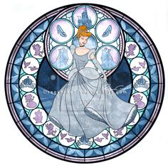 Alternative Kingdom Hearts Stained Glass Follow Water Mark for Photo Credit