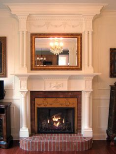 fireplace makeovers - Antique Fireplace Mantels