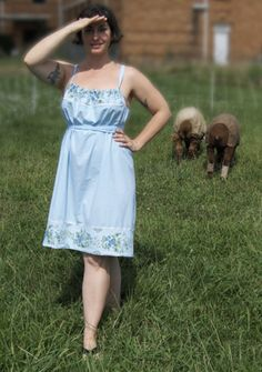 making your own sundresses... hmmm... might be a fun summer project if there are some cute pillow cases around.
