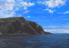 """Trefin, West Wales"" x acrylic on linen canvas - Welsh Artist - Vernon W. Seascape Art, Close Image, Vernon, Art For Sale, Wales, Original Artwork, Canvas, Gallery, Artist"