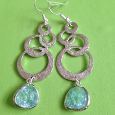 Bridal Silver and Crystal Earrings by joytoyou41 on Etsy, $30.00