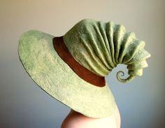Wide Brim Witch Hat. Wizard Hat. Fantasy Hat. от HandiCraftKate