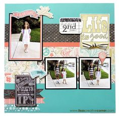Lisa's Creative Corner: Chalk It Up - Back to School Layout