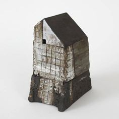 Rowena Brown - Tile House on Rock Clay Houses, Ceramic Houses, Miniature Houses, Art Houses, Concrete Sculpture, Building Art, Small Art, Ceramic Artists, Little Houses