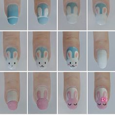 bunny rabbit nail art tutorial