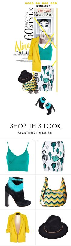 """""""Look of the day - Instagram Style"""" by no-where-girl ❤ liked on Polyvore featuring Topshop, Nicholas Kirkwood, Kavu, River Island, Illesteva, 60secondstyle and PVShareYourStyle"""