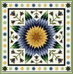 """""""Tulip Time"""" free quilt pattern courtesy of RJR Fabrics"""