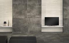 Natürlicher Usedlook Im XXL Format #Fliesen #Fernsehwand #wohnzimmer  #esszimmer #küche #