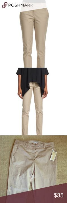 "NWT Michael Kors basic cotton pants in sand color These sand colored pants are brand new size 8. They have a slit at the for added comfort at the feet opening. Material is 97% cotton and 3% elastic. Inseam is 29"" and length is almost 40"". Michael Kors Pants Trousers"