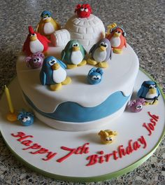 Club Penguin Cake by Rachel Manning Cakes P.S: I don't know who josh is.........