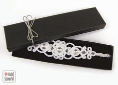 #sutasz #soutache #bracelet #bransoletka #wedding #bridal #white #ślub Biżuteria ślubna