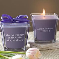 In Memory© Scented Candle- Lavender & Linen