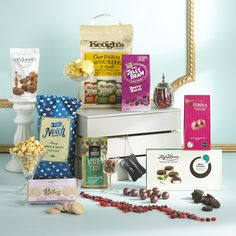 This gift box has all the essentials necessary for the office Christmas party or some serious gourmet grazing at home.