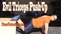 Tired of the same old dips, diamond push-ups and dumbbell extensions for triceps?  Try my evil triceps exercise!  #fitnessworkoutideas