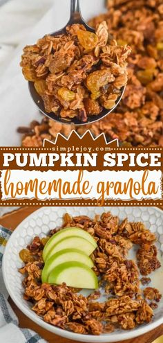 Prepare to be addicted to this simple breakfast idea! Not only is this easy homemade granola healthy, but it also tastes just like pumpkin spice. Plus, this pumpkin recipe lets your house smell like fall! Baked Pumpkin, Pumpkin Recipes, Fall Recipes, Pumpkin Spice, Great Recipes, Healthy Recipes, Low Calorie Breakfast, Breakfast Recipes, Pumpkin Sugar Cookies